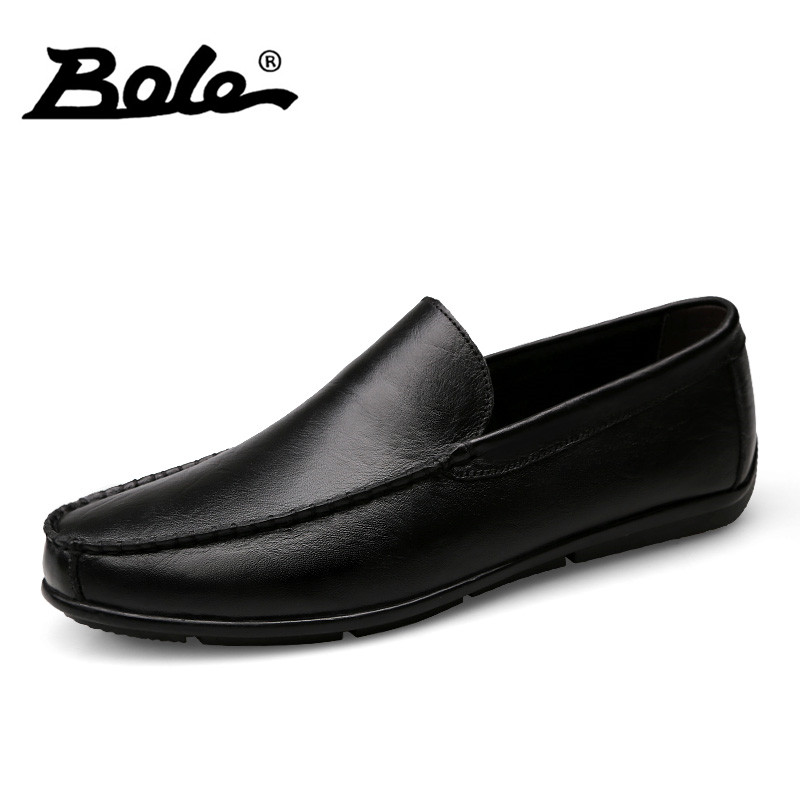 BOEL New Men Driving Shoes Fashion Designer Slip on Men Handmade Moccasins Shoes Comfort Loafers Genuine Leather Shoes Men Flats lozoga 2018 men leather shoes handmade moccasins genuine cow leather men loafers design slip on comfortable peas shoes men flats