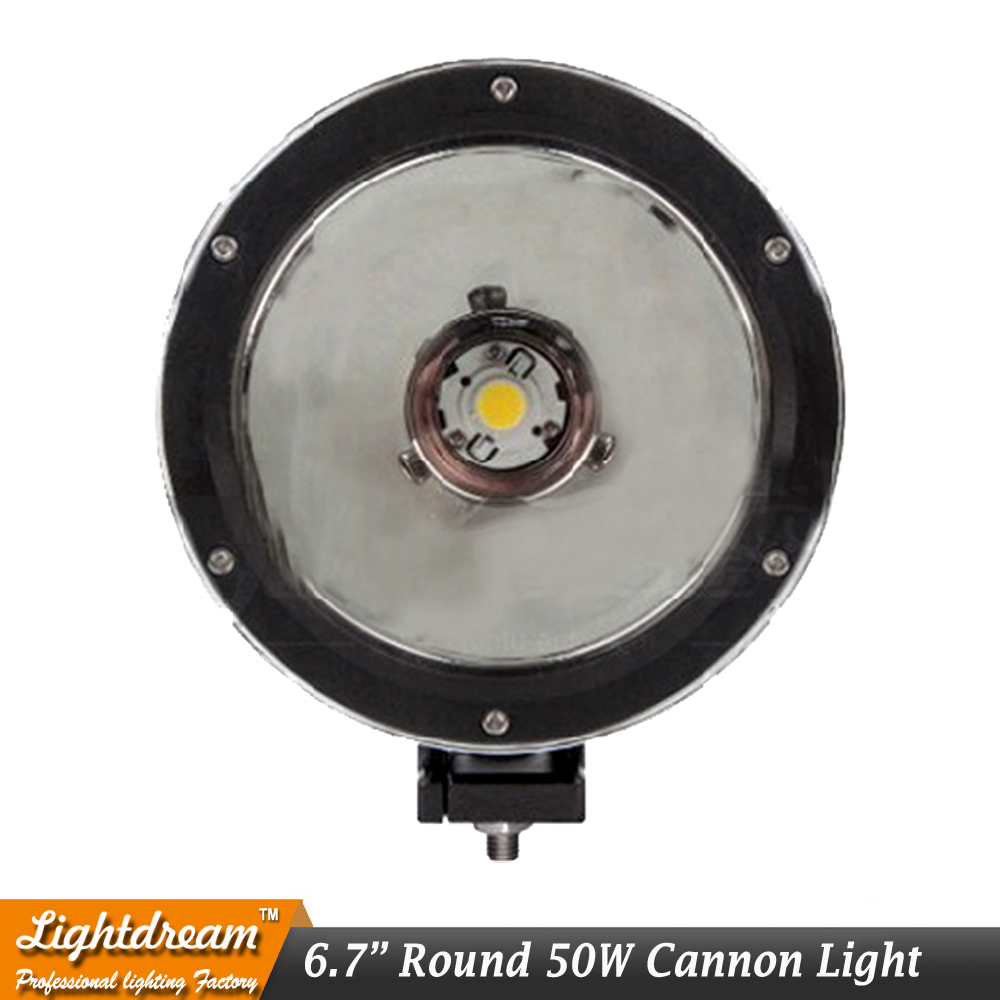 6.7 LED Light Cannon 15 Degree 50W Single Spot Beam Used for SUV ATV Wrangler TJ FJ CRUISER Liberty Land Rover Defender x1pc руководящий насос range rover land rover 4 0 4 6 1999 2002 p38 oem qvb000050