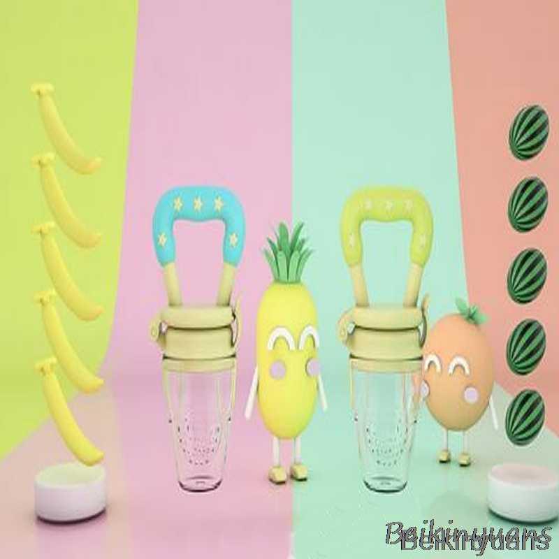 Chupete de silicona de seguridad alimentador de leche de frutas y verduras para niños