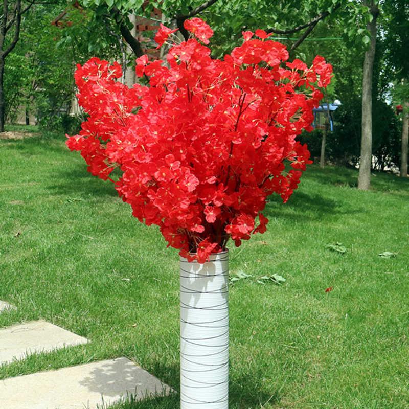 160 ראשי משי דובדבן פריחת משי מלאכותי פרח זר מלאכותי פריחת דובדבן עץ עבור בית תפאורה Diy חתונת דקור