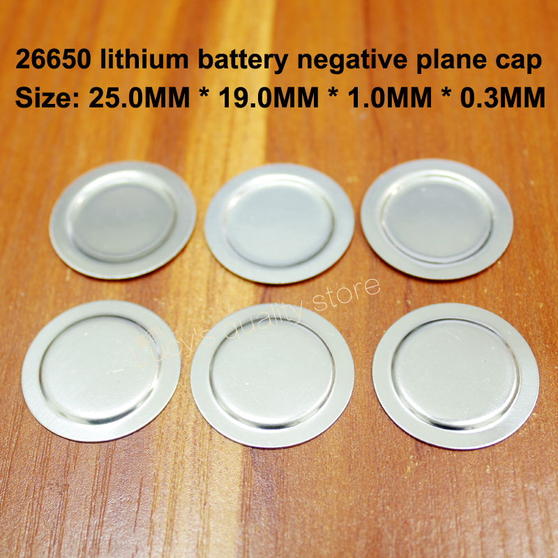 25pcs lot 26650 Lithium Battery Positive And Negative Spot Welding Cap Stainless Steel Flat Fittings in Replacement Parts Accessories from Consumer Electronics