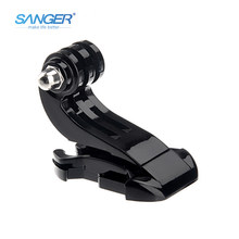 SANGER for Gopro Accessories J Hook Buckle Vertical Surface Mount Quick Release for Xiaomi Yi Go Pro Hero 5 4 3 Sjcam SJ4000(China)