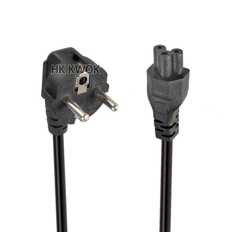 ЕС Европейский 3 зубец 2 Pin AC адаптер питания для ноутбука шнур для Asus hp sony Dell lenovo acer Sumsung Toshiba Fujitsu EU шнур питания