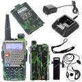 2 ШТ. BAOFENG УФ-5RE Плюс UV5RE + VHF/UHF Dual Band 5 Вт 128CH FM VOX Двухстороннее Радио зеленый LB0518