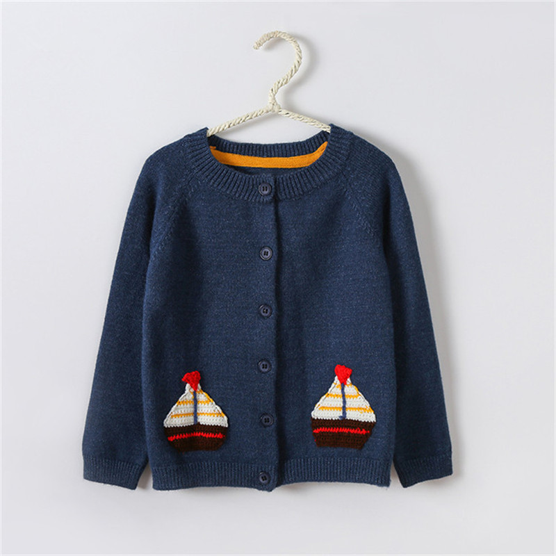 Children Sweater Autumn Winter Toddler Cardigan Coat Kids Cartoon Cashmere Knitted Sweater For Baby Boys Girls 2-6 Year