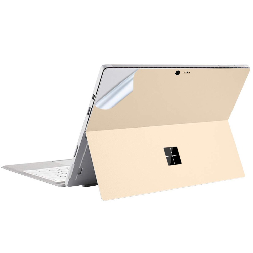 For Microsoft Surface Go Decal Skin Protective Vinyl Sticker Cover Precision Easy Apply Ultra Thin Champagne Gold Back Cover