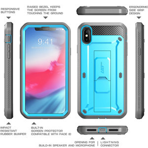 Image 4 - SUPCASE For iPhone Xs Max Case 6.5 inch UB Pro Full Body Rugged Holster Case with Built in Screen Protector & Kickstand