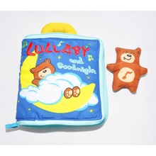 Tear-Resistant  Soft Cloth Book Lullaby Goodnight Educational Toy One Bear