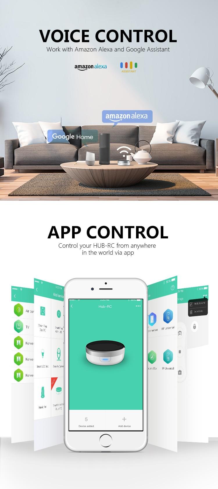 inteligente universal app controle remoto iphone voz alexa