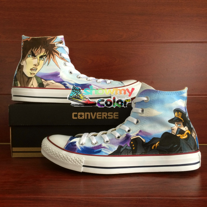 Women Men Converse Chuck Taylor Anime Shoes JoJo's Bizarre Adventure Design Hand  Painted Canvas Sneakers Christmas Gifts-in Skateboarding Shoes from Sports  ...