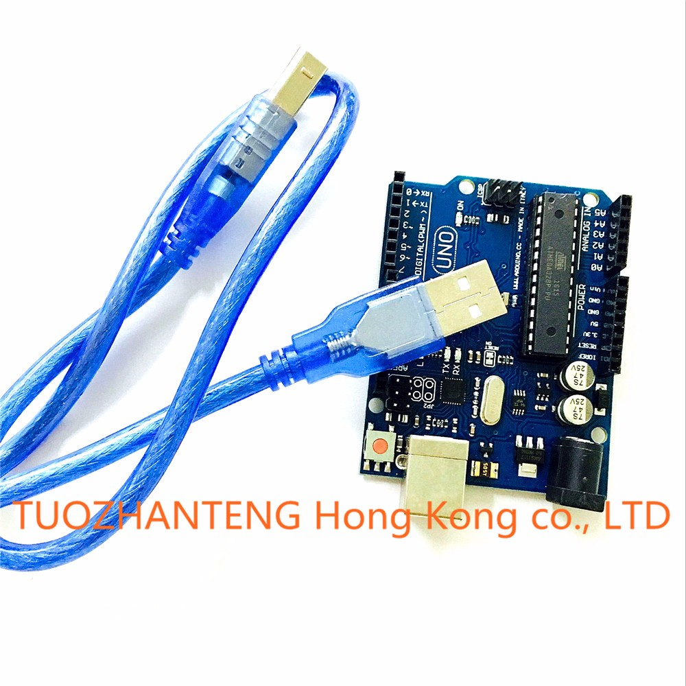 10set UNO R3 MEGA328P ATMEGA16U2 for Arduino Compatible +10pcs USB Cable Free Shipping