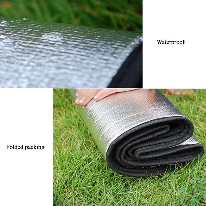 200*200cm Double-sided Aluminum Film Moistureproof Mat Tavel Mat For Tourist Camping Tent Beach Blanket Mat Camping Equipment  1