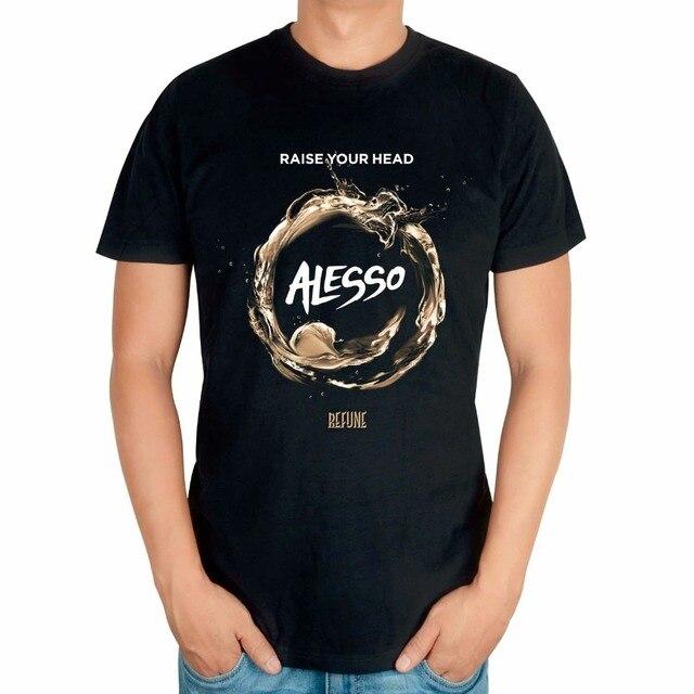 35a3063c7 9 wzorów szwedzki DJ Alesso Alessandro Lindblad czarna koszula druku muzyk  koszulka camiseta producent muzyczny muzyki
