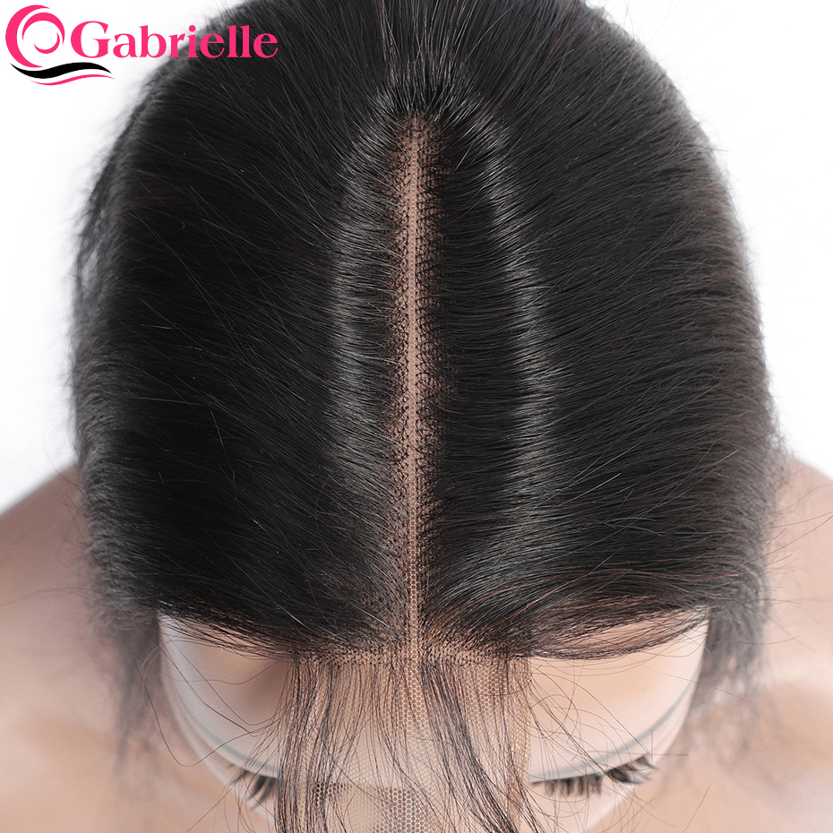 Gabrielle Hair-Closure Human-Hair-Extensions Baby-Hair 2x6-Lace Middle-Part Body-Wave