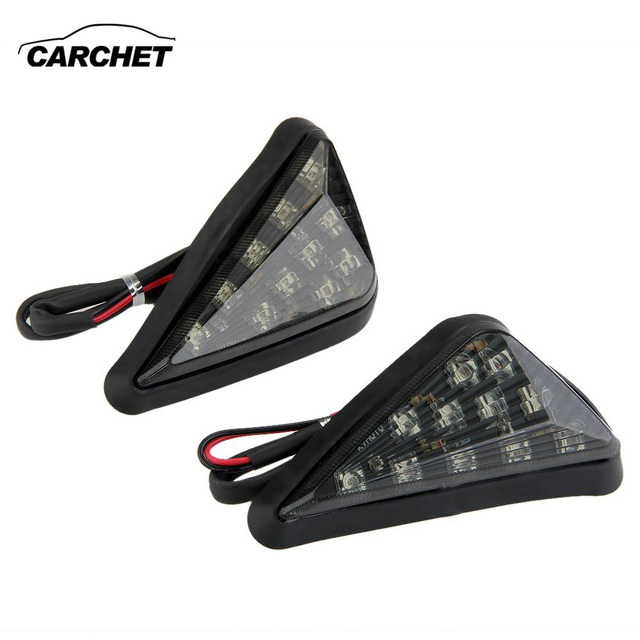 CARCHET Motorcycle Turn Signal Lights Yellow 11 LED Turn Signal Bulb for Honda CBR600RR03-06 DC 12V motocicleta Ligero