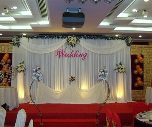 Simple Wedding Stage Decoration Ideas: Aliexpress.com : Buy 10FTX10FT Simple Stage Curtain White
