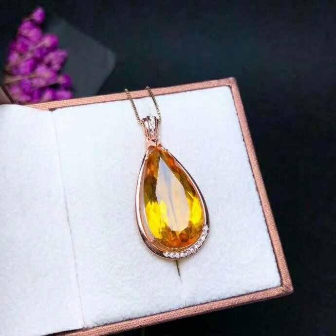 SHILOVEM 925 เงิน Piezoelectricity Amethyst citrine ส่งสร้อยคอคลาสสิกขายส่ง Fine ของขวัญ yhz122501agjagz