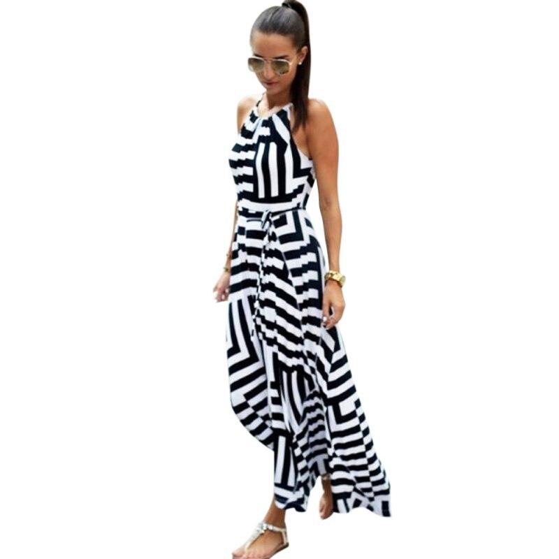 Verano de las mujeres atractivas dress boho largo maxi dress beach dress vestido