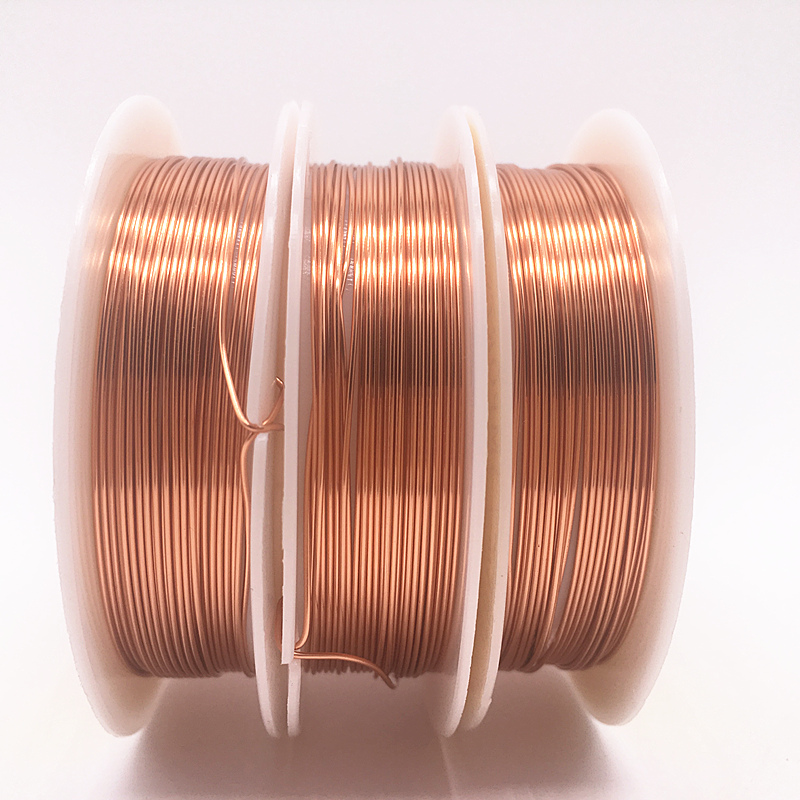 Wholesale 0.2/0.3/0.4/0.5/0.6/0.7/0.8/1.0 mm Brass Copper Wires Beading Wire For Jewelry Making Copper colors(China)