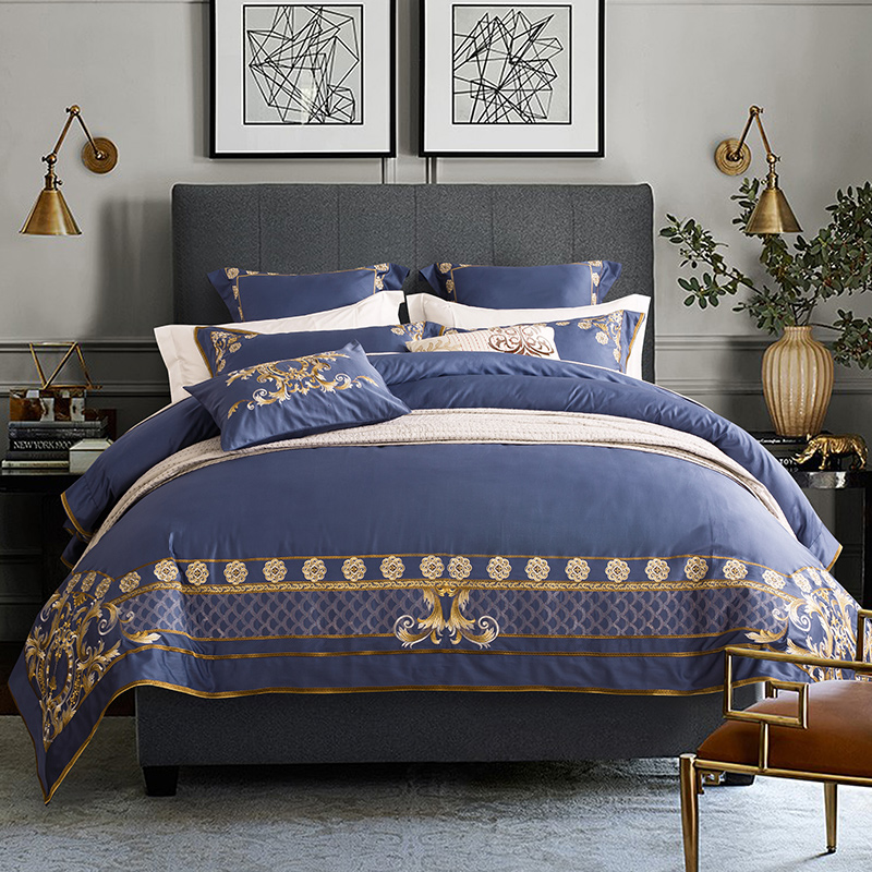 Bed Linings Pillowcases-Cover-Set Bedding-Sets Bed-Sheet Embroidery Egyptian Cotton Luxury