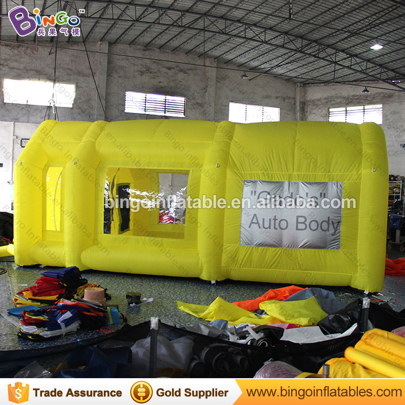 все цены на Free Shipping Yellow Color Inflatable Paint Spraying Booth 6X3X2.5 Meters blow up Dustproof Workshop garage tent toy tents онлайн