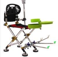 H X01 في الهواء الطلق متعددة الوظائف للطي المحمولة الصيد كرسي معالجة الصيد كرسي اكسسوارات الصيد لوازم الصيد