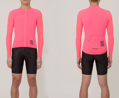 40e104d6e 2018 best quality bright PINK Pro team aero long sleeve cycling jerseys  race tight fit summer cycling shirt with Reflective-in Cycling Jerseys from  Sports ...