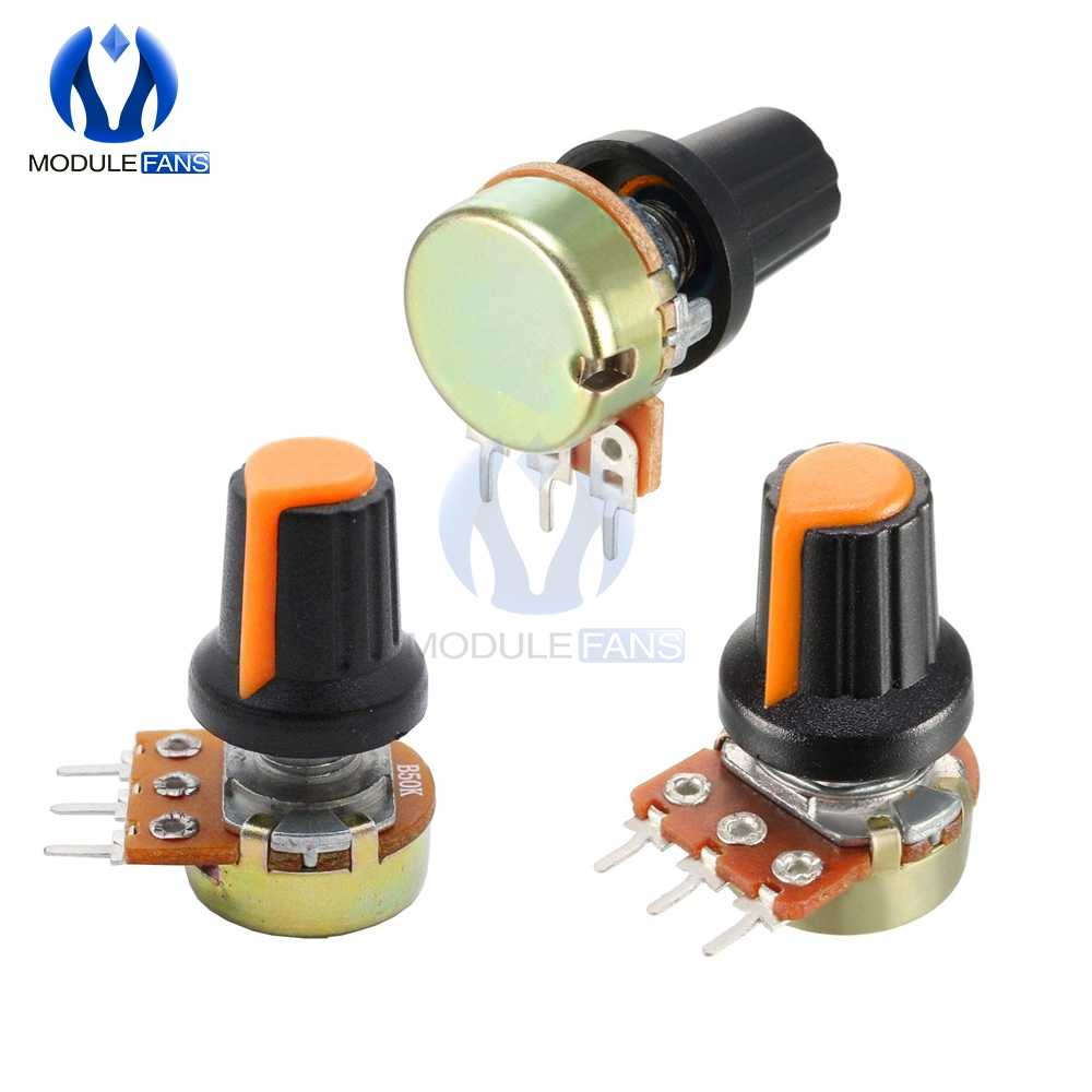 5PCS WH148 With Cap Linear Taper Rotary Potentiometer 1K 2K 3K 5K 10K 20K 30K 50K 100K 200K 300K 500K 1M Ohm Diy AG2 A-2