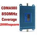 Display LCD!!! GSM CDMA 850 Mhz CDMA 980 Reforço De Sinal Do Telefone Móvel CDMA Telefone Celular Repetidor de Sinal Amplificador + Power Adapter