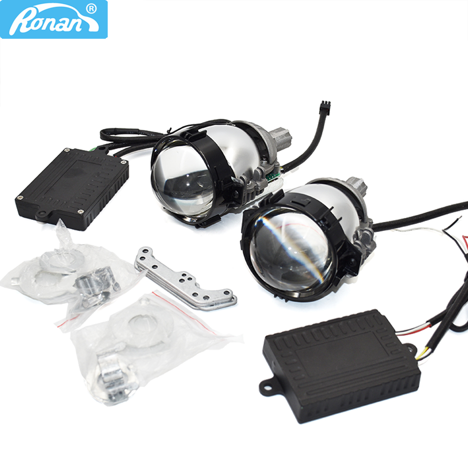 Ronan Upgrade Mini Bi LED Projector Lens 6000K White Hella Koito Q5 Universal Install Retrofit H1 H4 H7 Headlight Car Styling