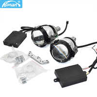 Ronan Upgrade mini Bi LED projector lens 6000K white universal install retrofit H1 H4 H7 headlight car styling retrofit