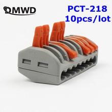 PCT-218 PCT218 222-418 Универсальный компактный провод соединитель проводки разъемами 8 pin, проводниковый блок