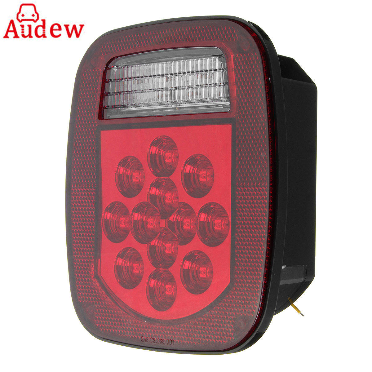 1Pcs 39 LED Car Rear Stop Turn Light Tail Reverse License Light for Truck/Trailer/Boat/Jeep TJ CJ YJ JK eonstime 2pcs 12v 16 led red white truck trailer boat stop turn tail light reverse light lamp waterproof