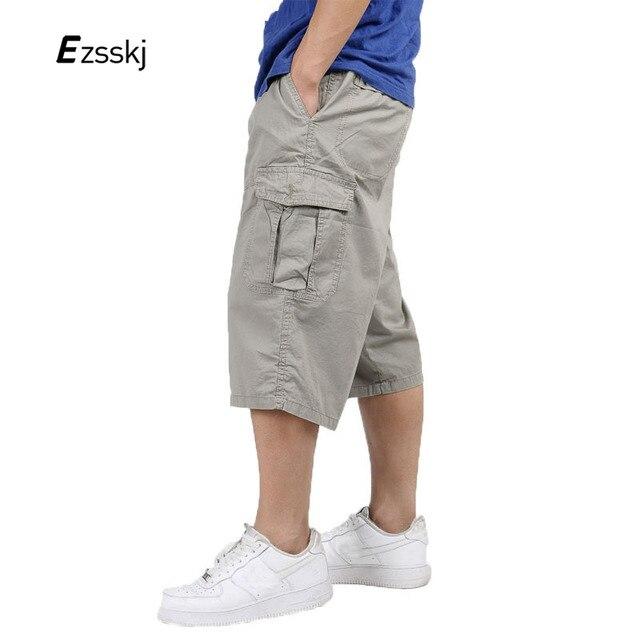 Pantaloni In Plus Baggy Cargo Uomo Cotone Size 34 Polpaccio Estate FdwSSR