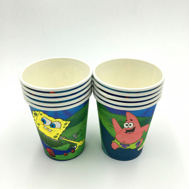 10 Teile Los Spongebob Tassen Spongebob Brille Kids Geburtstag Party