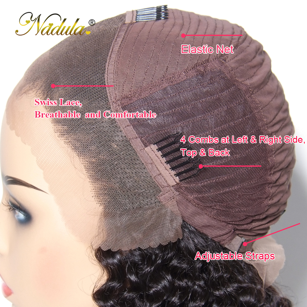 Image 4 - Nadula Curly Human Hair Wig 13*4/6 Brazilian Wigs Lace Front Remy Hair Swiss Lace Frontal Wig Natural Hairline With Baby Hair-in Human Hair Lace Wigs from Hair Extensions & Wigs