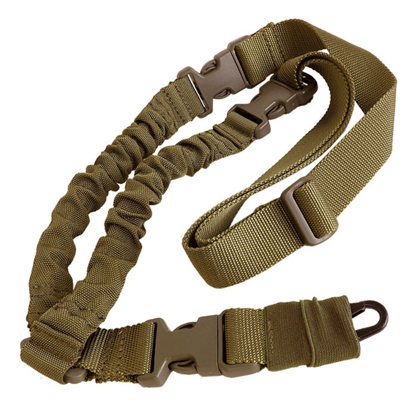 CQC Airsoft Military Adjustable Tactical Hunting One Single Point Bungee Rifle Gun Sling Strap