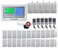 Free DHL New Wireless GSM Alarm System Touch Screen Intelligent Burglar Security Home Alarm System with pir detector