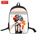 wholesale anime Black Butler backpack student daily cartoon school backpacks for teenagers bag rucksack bags with double zipper