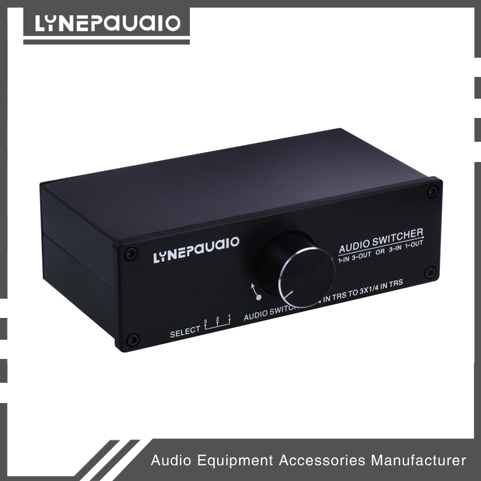 Купить с кэшбэком 1 input 3 out put or 3 input 1 output Audio Switcher Passive Preamp Stereo Speaker Distributor Selector
