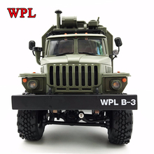 Новый WPL RC грузовик B36 Урал 1/16 2,4 г 6WD удаленного Управление военный грузовик рок-гусеничный автомобиль Хобби Игрушки для мальчиков Карро eletrico