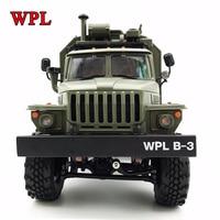 NEW WPL RC Truck B36 Ural 1/16 2.4G 6WD Remote Control Military Truck Rock Crawler Car Hobby Toys for Boys carro eletrico