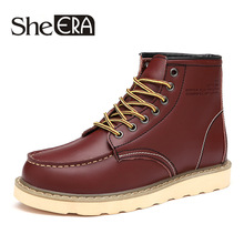 2019 New Martin Boots Mens Summer Comfortable High To Help Desert Leather  Shoes Trend