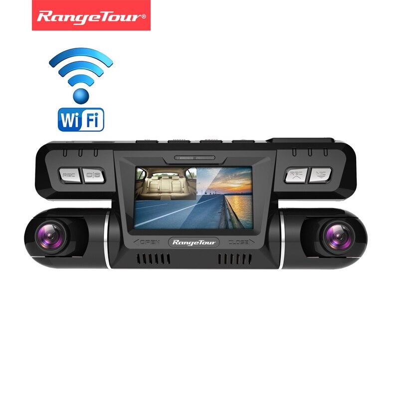 Range Tour B80 WIFI Car DVR Video Camera Recorder Novatek 96660 Dashcam Dual Lens Full HD