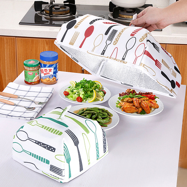 1pc New Multifunctional Dishes Dust Heat Preservation Insulation Food Foldable Cover Kitchen Storage Dish Cover  sc 1 st  AliExpress.com & 1pc New Multifunctional Dishes Dust Heat Preservation Insulation ...
