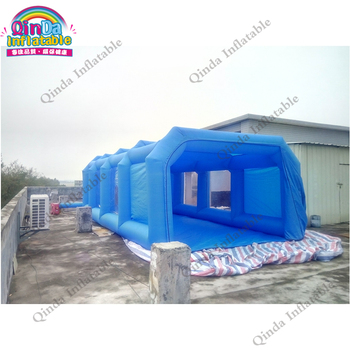 Guangzhou Qinda Portable inflatable car garage tents, inflatable car spray paint booth for sale 180sx led ヘッド ライト