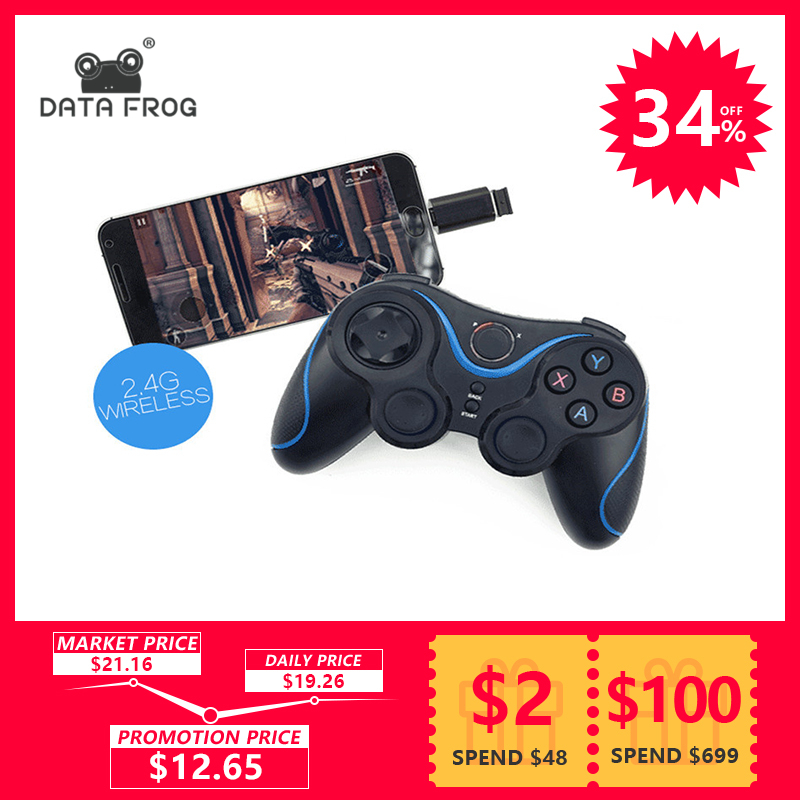 Wireless Game Controller Joystick With OTG For PC Games Gamepad Universal For Android TV Box Tablet For Cell Phone Remote 2.4G 2 4g wireless type c game controller joystick gamepad otg receiver for xiaomi android smart phone for ps3 game console 5 colors