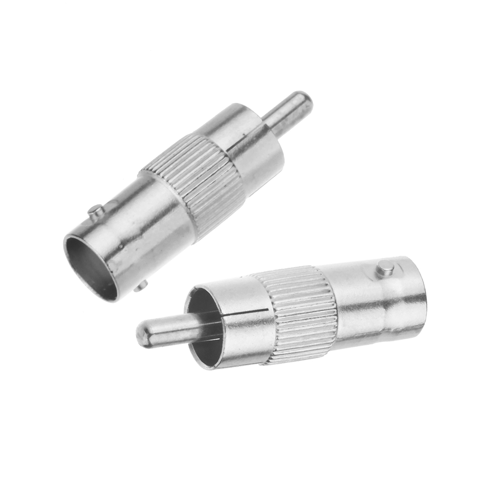 2Pcs/lot BNC Female to RCA Male Coax Cable Connector Coupler Adapter for CCTV Camera Audio Camera security Surveillance system annke 10pcs bnc female to female inline coupler coax bnc connector extender for cctv camera security video surveillance system