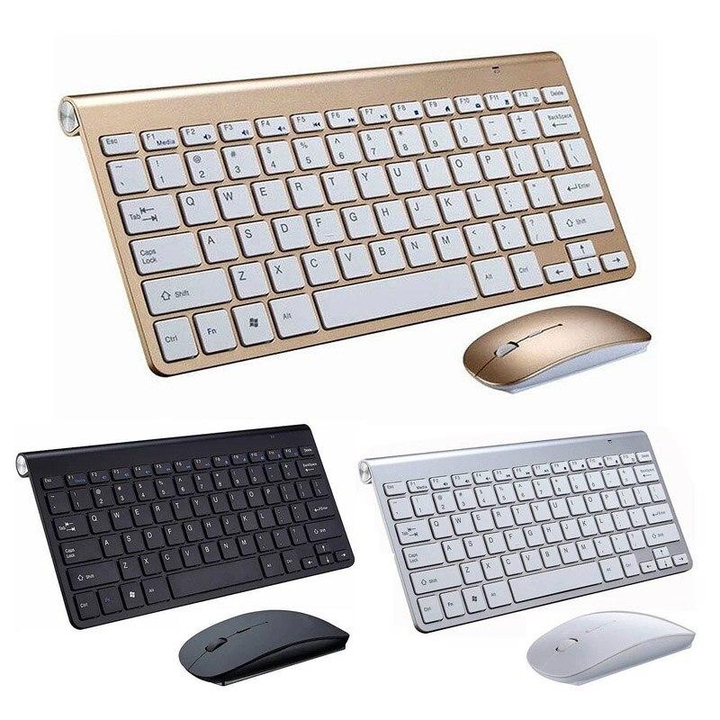 Cliry 2.4g teclado sem fio e mouse mini multimídia teclado mouse conjunto de combinação para notebook computador portátil mac desktop tv escritório