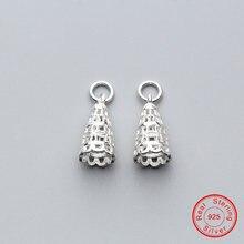 Uqbing 100% 925 пробы серебряные женские Подвески diy 9*9*17